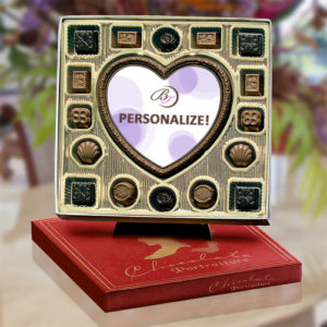 Premier Heart Chocolate Portrait with Truffles